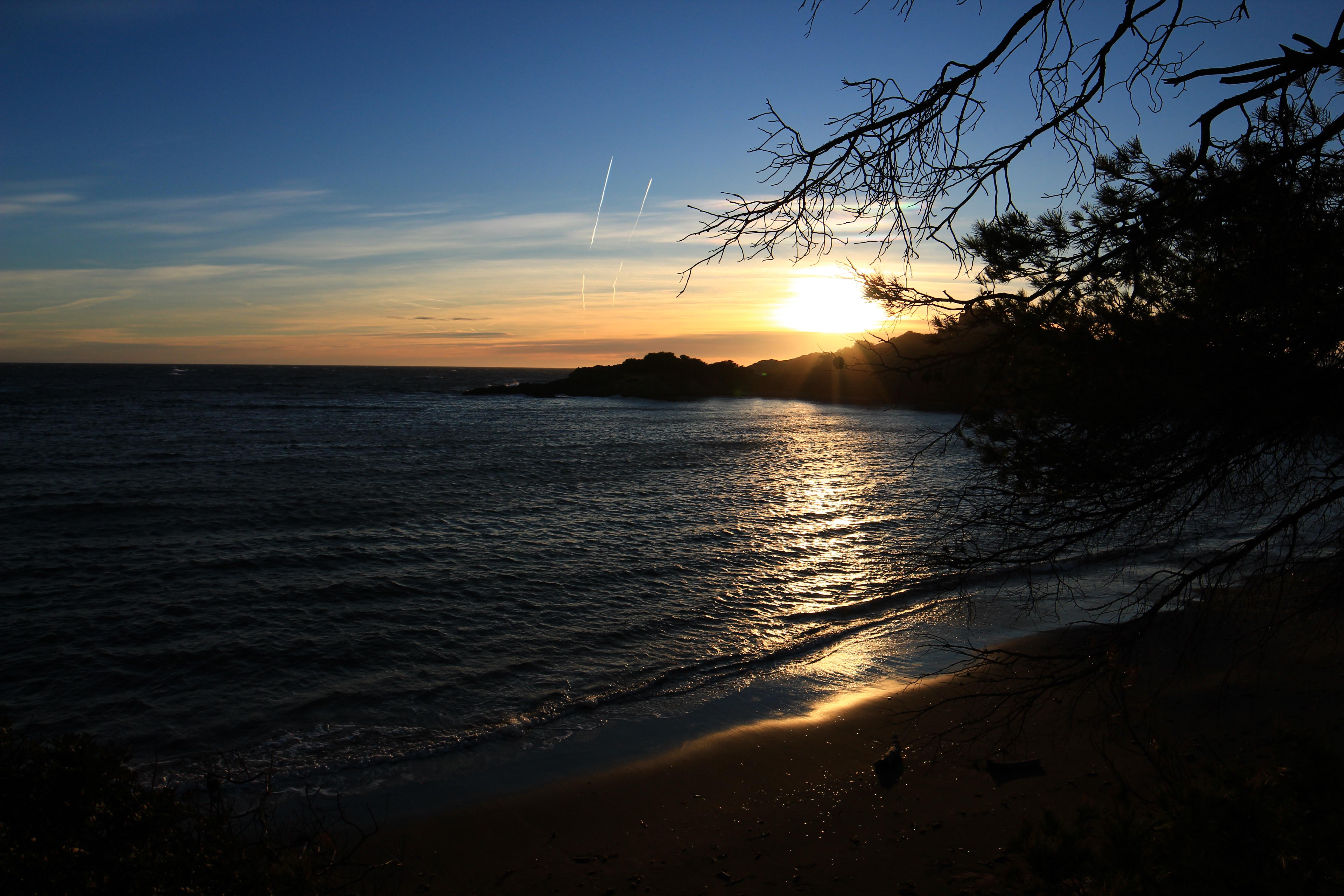 Villa sainte anne porquerolles, coucher de soleil